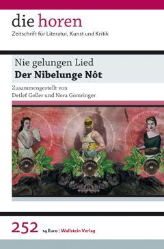 Horen: Nie gelungen Lied – Buchcover