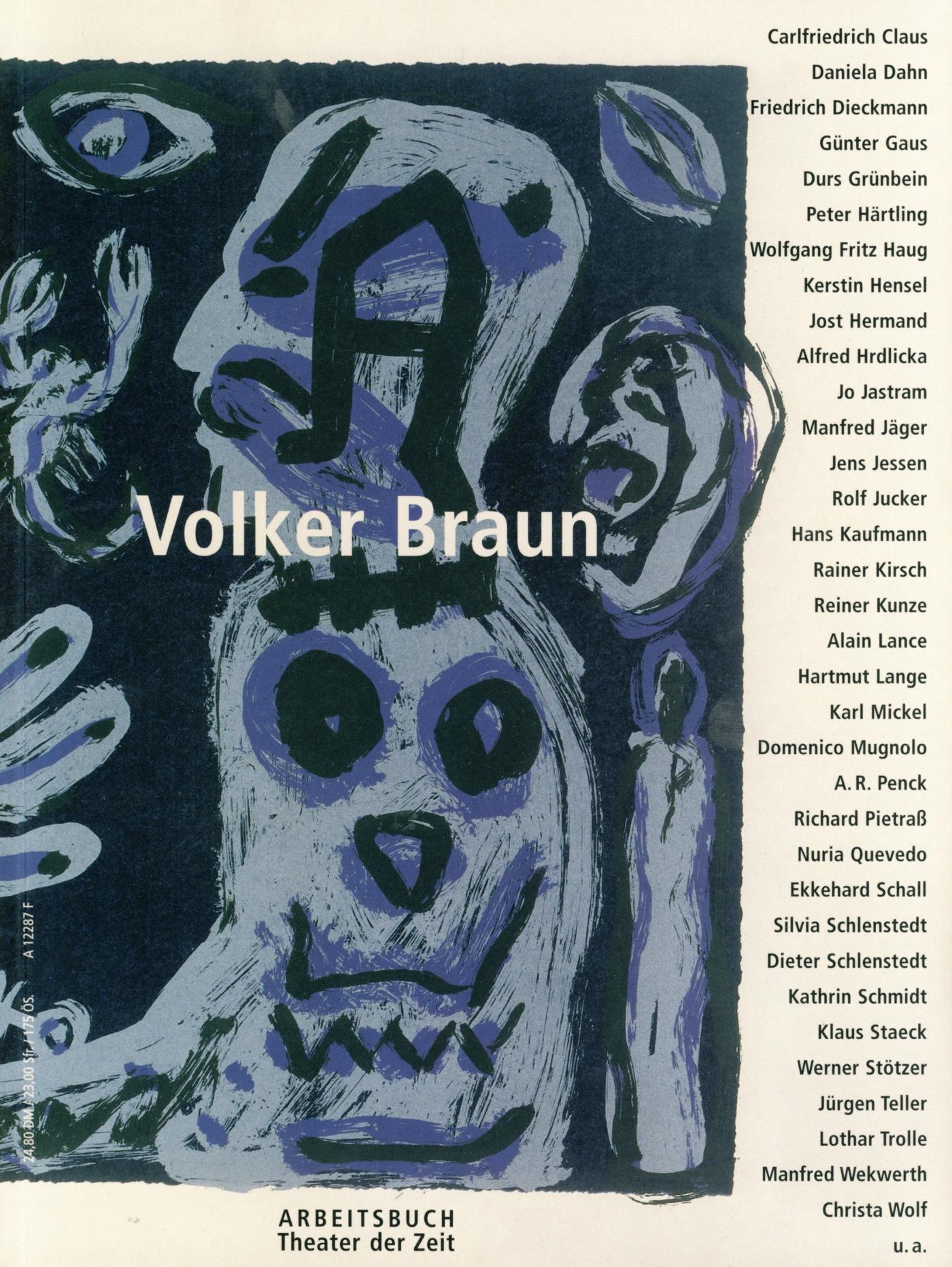 Arbeitsbuch Volker Braun – Buchcover